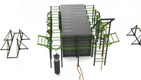 Cage crossfit container