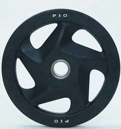 Holes Black Rubber Coated Olympic