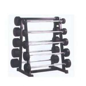 Fixed Rubber Barbell Rack