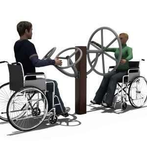 Chest & Shoulder Wheels Station BLH-1518équipement fitness pmr PMR [tag]