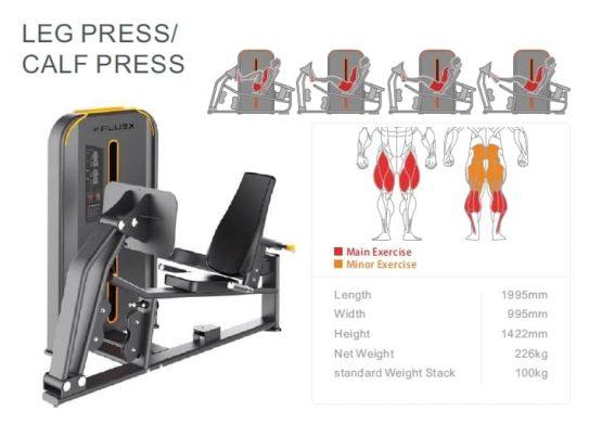 Leg Press-Calf press X-Plus